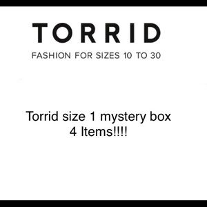 All Torrid Size 1 mystery box! 4 items!!